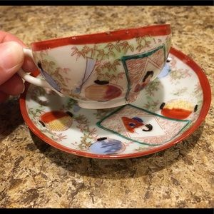 Vintage Oriental China Tea Cup and Saucer